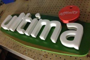 Обемни букви за лого